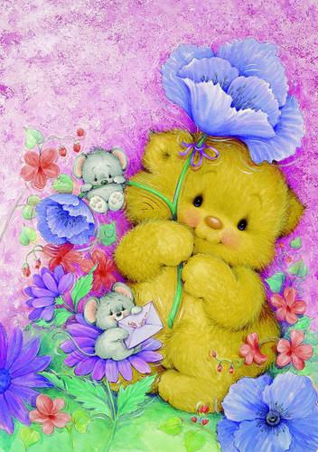 Teddy hug Canvas only By Grafitec