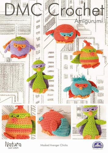 Masked Avenger Chicks Crochet Pattern Leaflet  By DMC