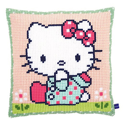 Hello Kitty: On the Lawn Chunky Cross Stitch Kit By Vervaco