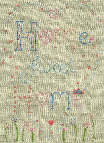 Starter: Home Sweet Home Kit Embroidery Kit By Anchor
