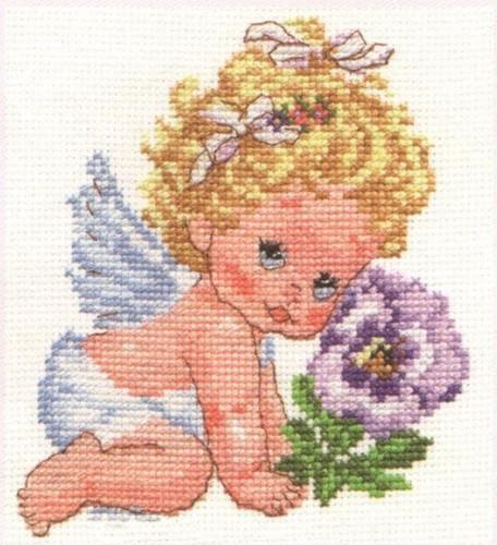 Angel of Happiness Cross Stitch Kit by Alisa