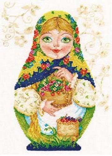 Matreshki - Summer Beauty Cross Stitch Kit by Alisa