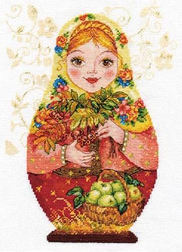 Matreshki - Autumn Beauty Cross Stitch Kit by Alisa