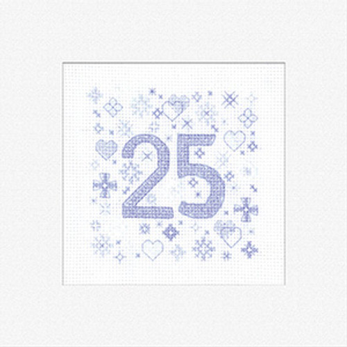 '25' Birthday Cross Stitch Card Kit By Heritage