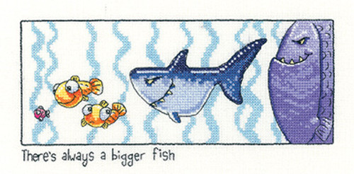 Always a Bigger Fish Cross Stitch Kit By Heritage