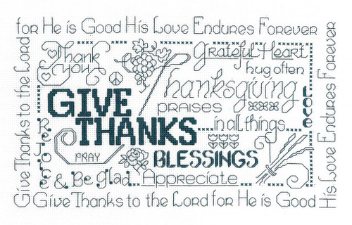Let's Be Thankful Chart By Ursula Michael