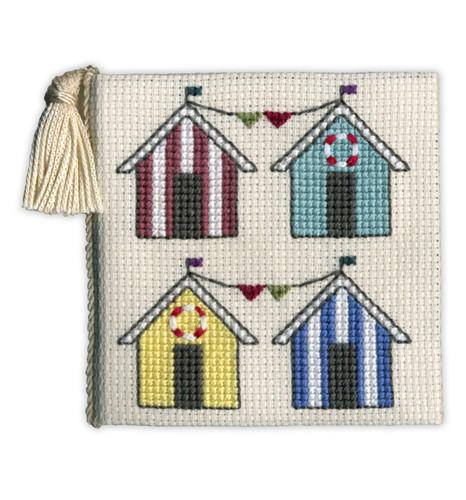 Beach Hut Needle Case Cross Stitch Kit by Textile Heritage
