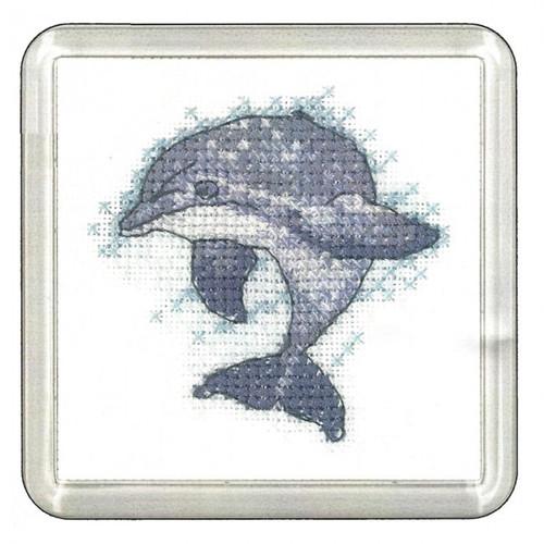 Dolphin Cross Stitch Coaster Kit By Heritage