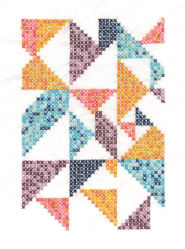 Pixel Nation Printed Cross Stitch Kit By DMC