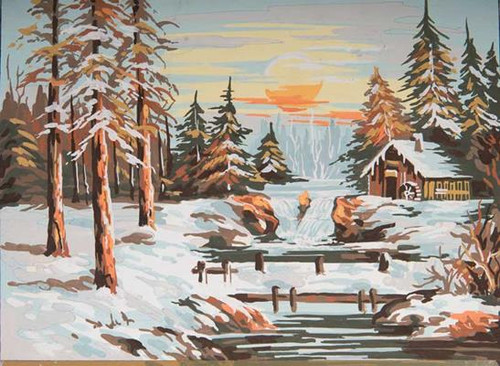 Winter Landscape Tapestry Canvas By Grafitec