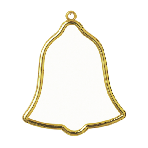 Frame: Plastic: Bell Shaped: 8 x 9cm: Gold By Vervaco