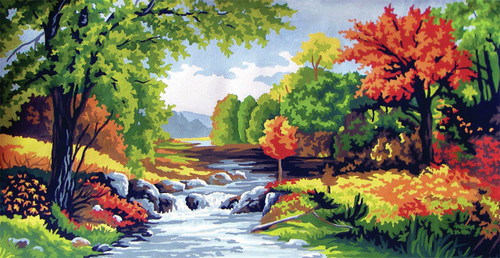 Autumn Time  Tapestry Canvas By Collection D'art