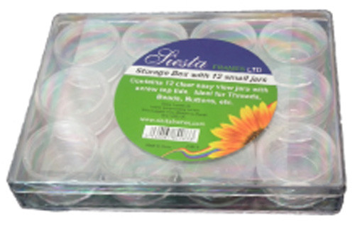 Clear Storage Box with 12 Boxes By Siesta