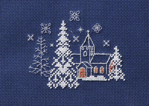Christmas Card  Let it Snow Cross Stitch Card