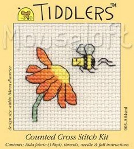 Visiting Bee Cross Stitch Kit by Mouse Loft