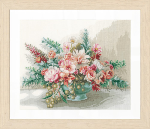 Counted Cross Stitch Kit: Bouquet of Flowers By Lanarte