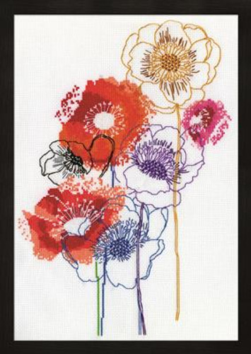 Modern Floral Cross Stitch Kit By Design Works