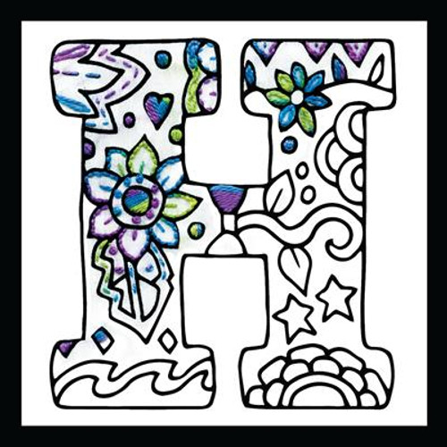 Zenbroidery - Letter H EMBROIDERY KIT By Design Works