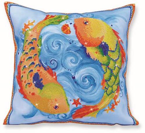 Dancing Fish Pillow Craft Kit by Diamand Dotz