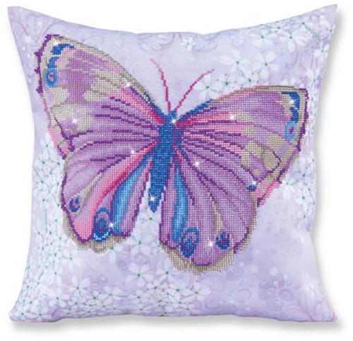 Papillon Mauve Pillow Craft Kit by Diamand Dotz