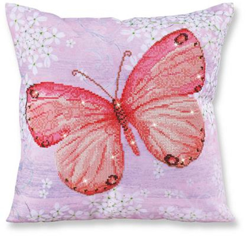 Papillon Abricot Pillow Craft Kit by Diamand Dotz