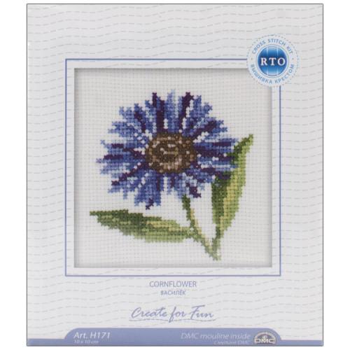 Cornflowers Cross Stitch Kit by RTO
