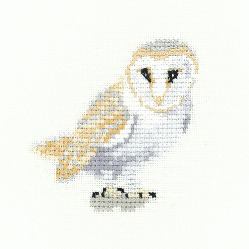 Barn Owl Cross Stitch Kit By Heritage Crafts