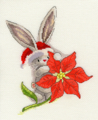 Bebunni Poinsettia Cross Stitch Kit by Bothy threads