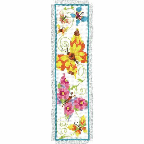Counted Cross Stitch Kit: Bookmark: Butterflies II