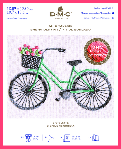 Bicycle Embroidery Kit By DMC