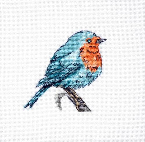 Little Robin Cross Stitch Kit By Luca S