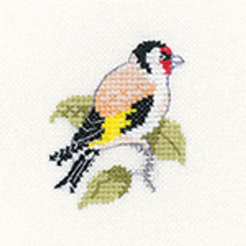 "Goldfinch ""Little Friends"" Cross Stitch Kit Cross Stitch kit By Heritage"
