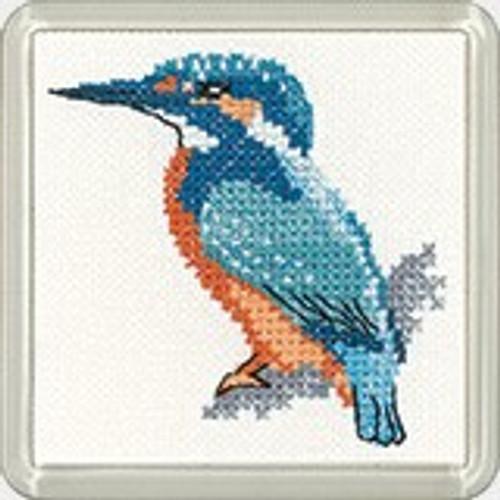 Kingfisher Coaster Cross Stitch kit By Heritage Crafts