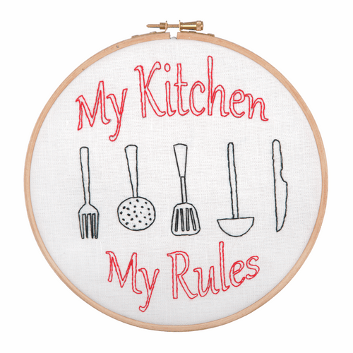 Embroidery Hoop Kit: My Kitchen, My Rules By Anchor