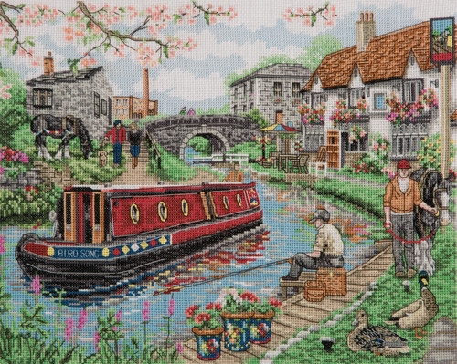 Counted Cross Stitch Kit: Country Canal by Anchor