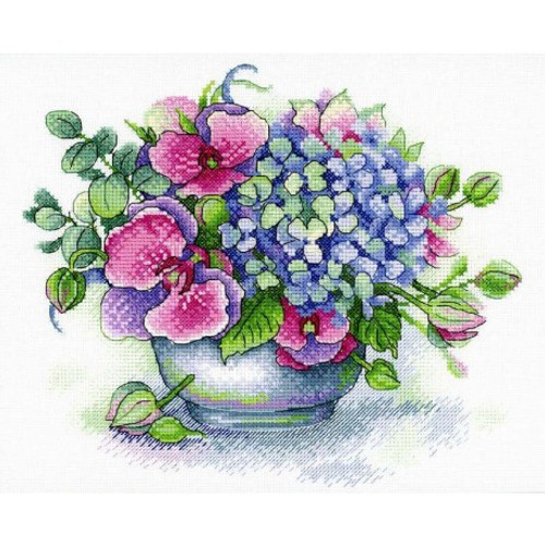 Bouquet of  Memories Cross Stitch Kit by Mp Studia