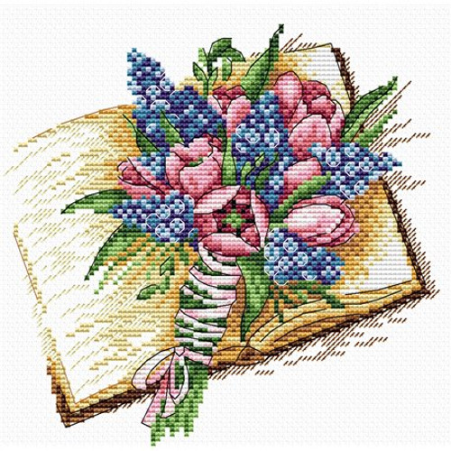 Smell of the book Pages Cross Stitch Kit by MP Studia