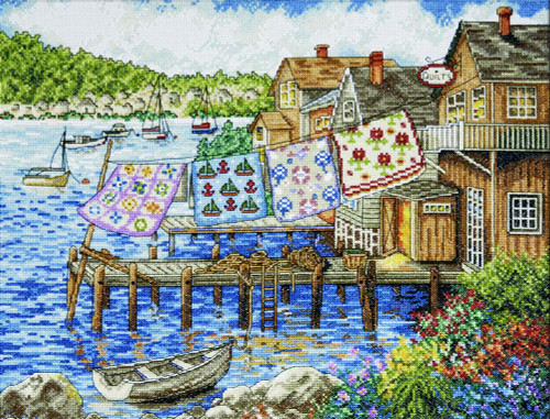 Dockside Quilts Cross Stitch Kit By Deisgn Works