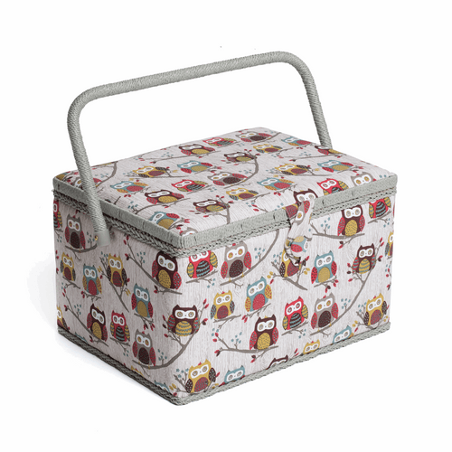 Old Owl Large Sewing Box Hobby Gift