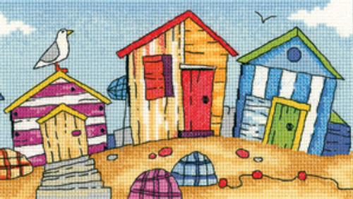 Beach  Huts Cross Stitch By Heritage