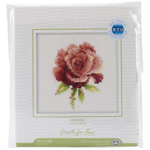 Red Rose Cross Stitch Kit by RTO