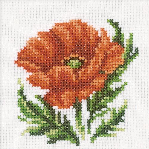 Poppy Cross Stitch Kit by RTO