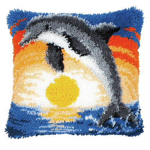 Latch Hook Kit: Cushion: Dolphin By Vervaco