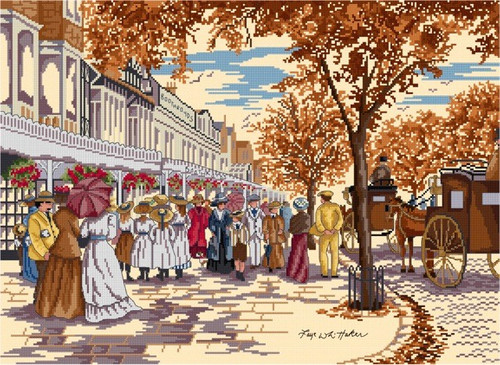 Autumn on Lord Street Cross Stitch Kit by All our yesterdays