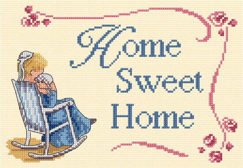 Home sweet Home Cross Stitch Kit by All our Yesterdays