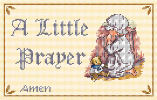 A Little Prayer Cross Stitch Kit by All our Yesterdays