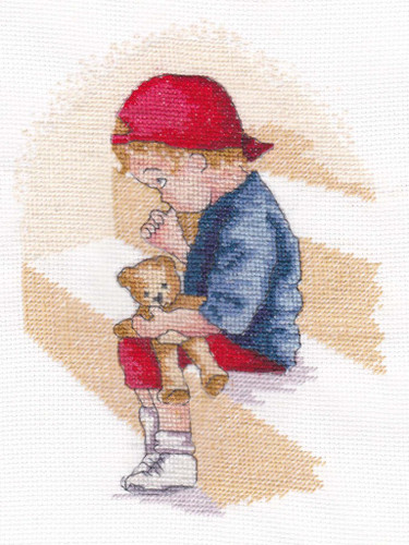 Naughty Step Cross Stitch Kit by All Our Yesterdays