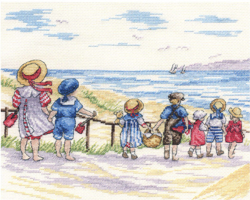 To the Beach we go Cross Stitch kit by All our Yesterdays