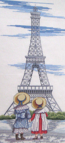 Eiffel Tower Cross Stitch Kit by All our Yesterdays