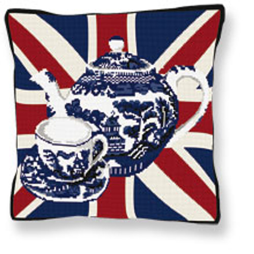 Afternoon Teapot Tapestry Cushion kit By Brigantia